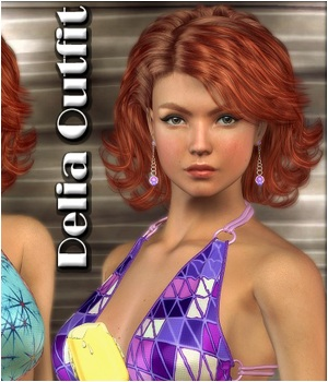 Delia Outfit 3D Figure Essentials plus3d