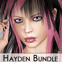 Hayden Bundle: Hair and Character for V4 by Silver
