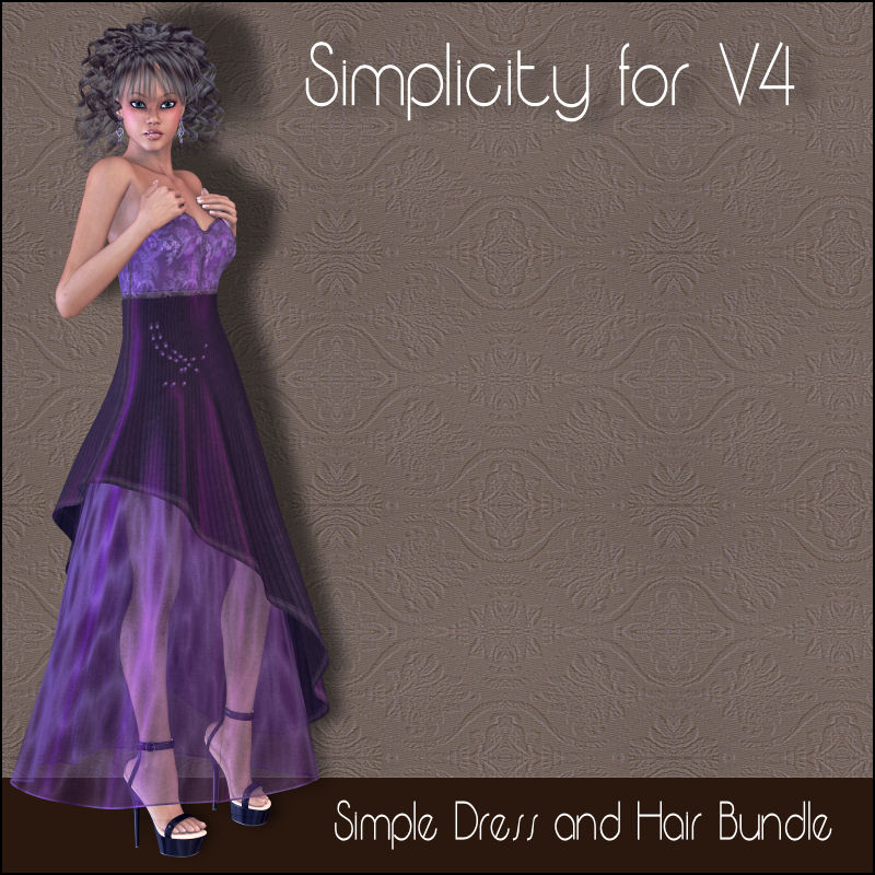 Simplicity: Dress and Hair for V4