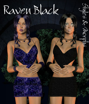 Raven Black Styles & Morphs 3D Figure Essentials PureEnergy