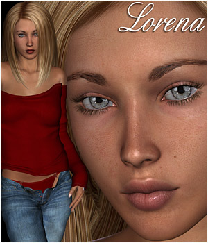 Lorena Character & Sweater for V4 3D Figure Assets RPublishing