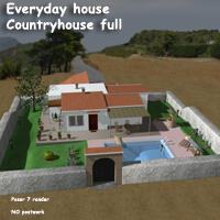 Everyday house - Countryhouse full 3D Models greenpots