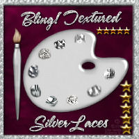Bling! Textured Silver Laces Layer Styles w/ Free Gifts 2D Graphics fractalartist01