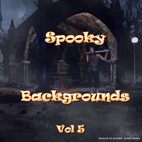 Spooky Backgrounds Vol 5 2D And/Or Merchant Resources Themed Laksmi