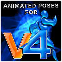 wolf's animated poses for V4 3D Figure Essentials wolf359