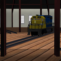 Roundhouse Train Station (Poser & OBJ & Vue) image 2