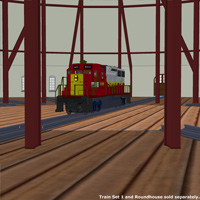 Roundhouse Train Station (Poser & OBJ & Vue) image 3