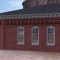 Roundhouse Train Station (Poser & OBJ & Vue) image 4