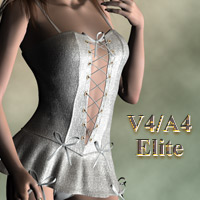 V4E dress for V4/A4 3D Figure Assets kobamax