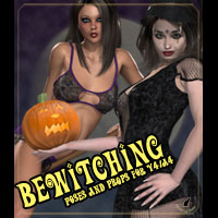 Bewitching Pinup Poses and Props 3D Figure Assets 3D Models kaleya