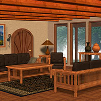 Mission-Style Family Room 3D Models Richabri