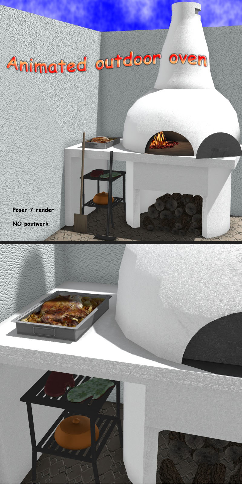 Animated Outdoor Oven