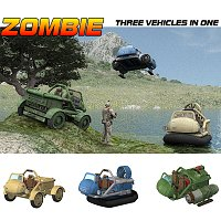 Zombie - MVP - 3 Vehicles in 1 (for Poser) Themed Transportation VanishingPoint