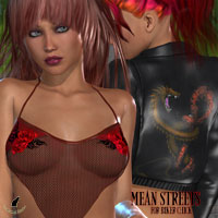 Mean Streets for Biker Chick 3D Models 3D Figure Assets kaleya
