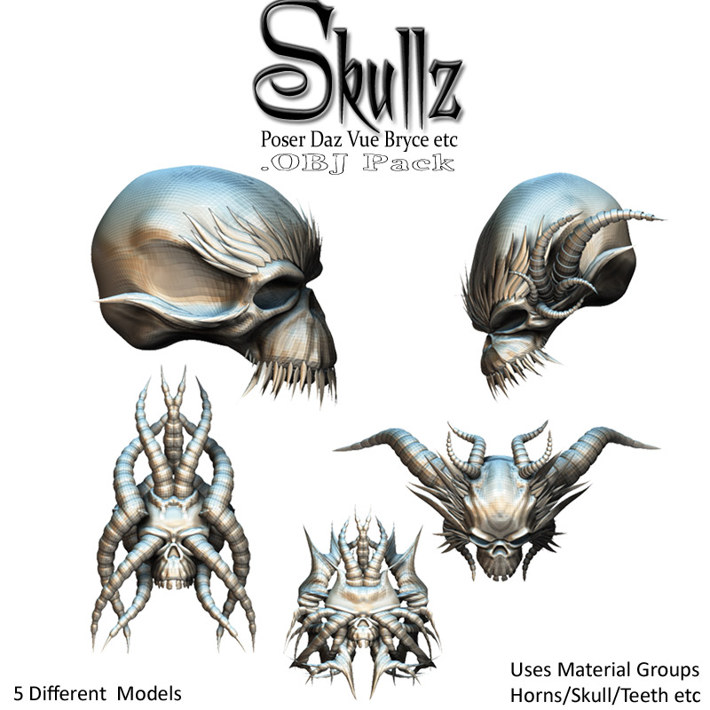 SkullZ .OBJ Pack