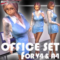 V4A4 OfficeSet 3D Figure Assets 3D Models billy-t