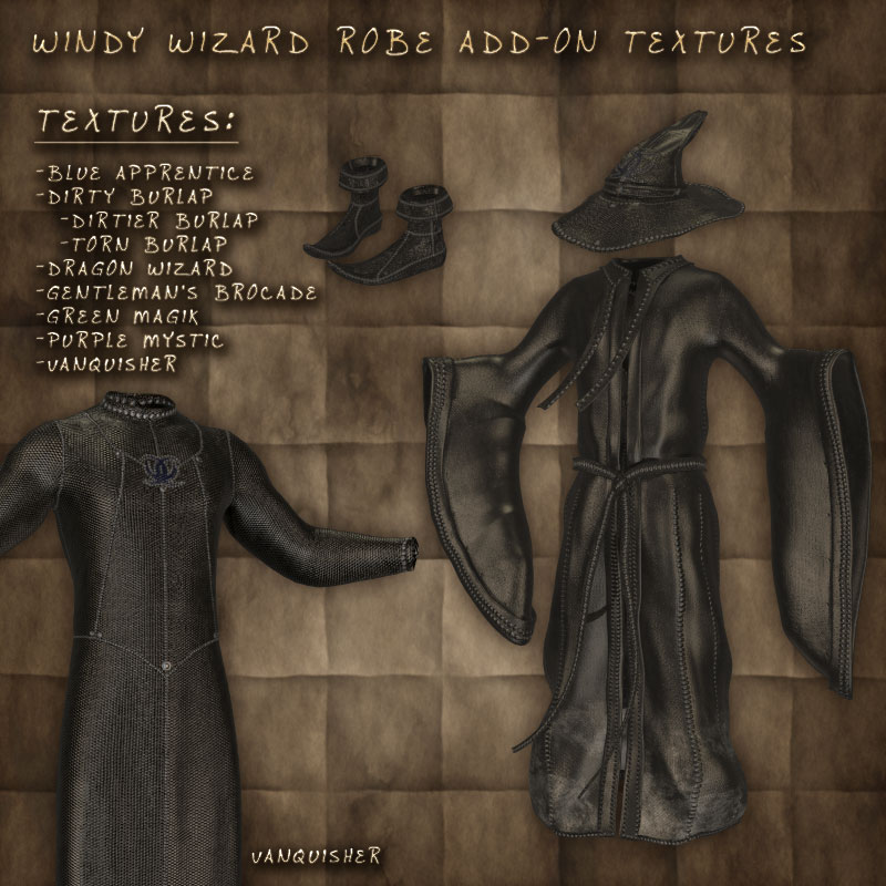 Windy Wizard Robe Textures