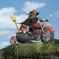 Witches MotorCycle (for Poser) 3D Models mrsparky
