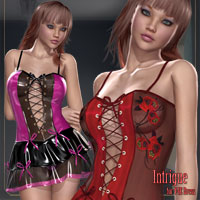 Intrigue for V4E Dress 3D Models 3D Figure Assets kaleya