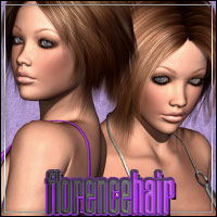 Florence Hair 3D Figure Assets outoftouch