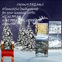 Snowy Dreams 3D Models 2D Graphics capelito