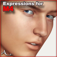 Expressions for Michael 4 3D Figure Assets A_