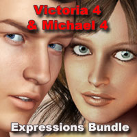 V4-M4 Expressions Bundle 3D Figure Essentials A_