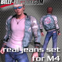 M4 Real Jeans Set 3D Figure Assets billy-t