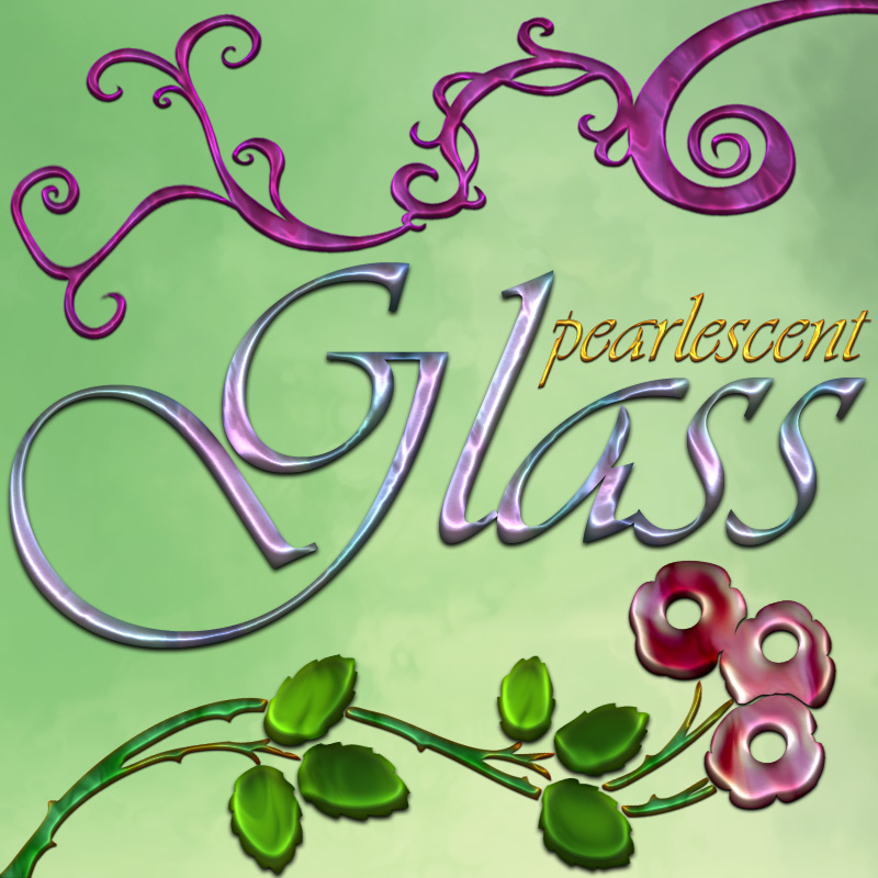 Pearlescent Glass - Photoshop Styles
