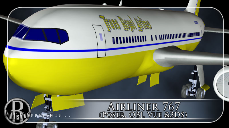 Airliner 767 (Poser, OBJ, Vue & 3DS)
