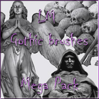 LM GOTHIC BRUSHES MEGA PACK  luciferino