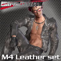 M4 Leather Wear Set 3D Figure Assets billy-t