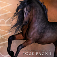 CWRW The Elegant Equine: Pose Pack 1 3D Models 3D Figure Essentials cwrw