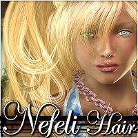 Nefeli Hair 3D Figure Assets 3Dream
