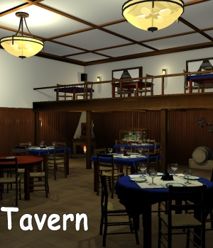 Tavern Saloon Full 3D Models greenpots