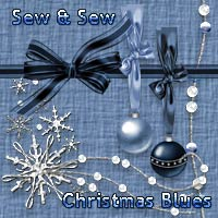 Sew and Sew Christmas Blues 3D Models 2D Graphics macatelier