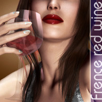 French red wine by halcyone