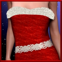 X-Mas-Dress for V4 3D Models 3D Figure Assets kaiZ