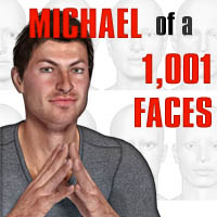 Michael of 1,001 Faces Poses/Expressions Angela3D