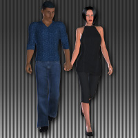 Walking Couples 3D Figure Essentials wenke