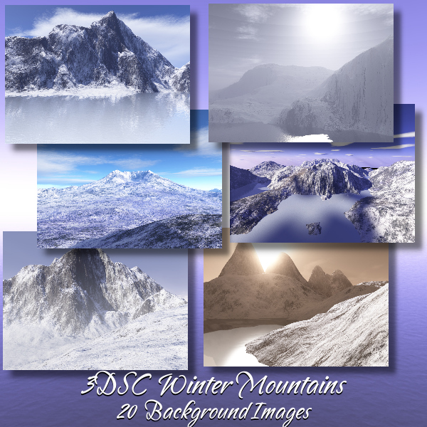3DSC Winter Mountains