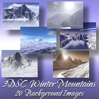 3DSC Winter Mountains 2D 3D Models screencraft
