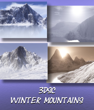 3DSC Winter Mountains 2D Graphics 3D Models screencraft