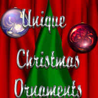 Unique Christmas Ornaments 3D Models 2D Graphics PandyGirl