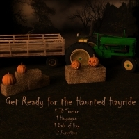 Haunted Haywagon Ride 3D Models SAMS3D