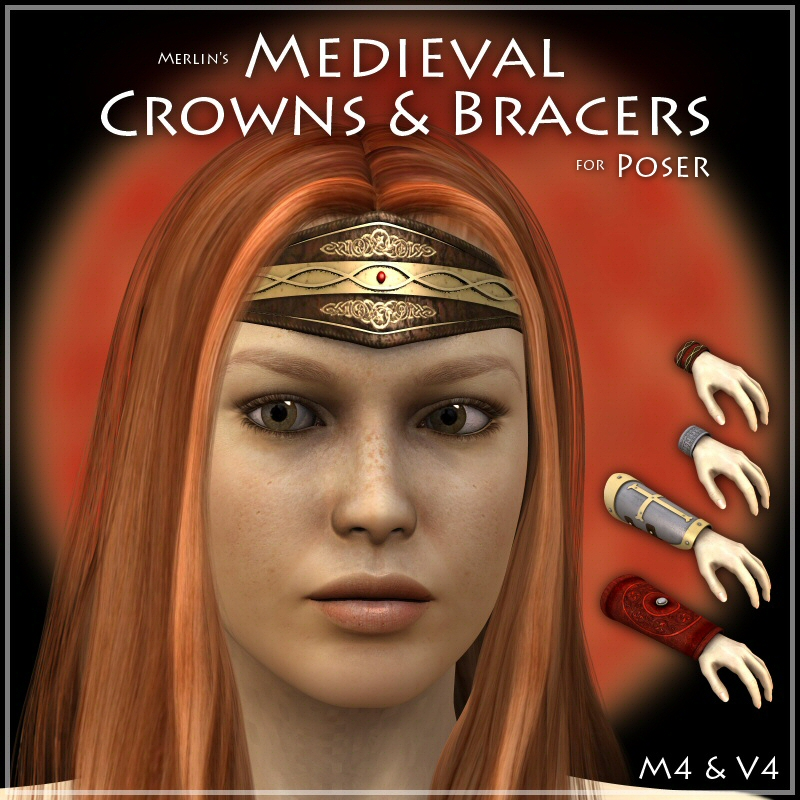 Merlin's Medieval Crowns & Bracers