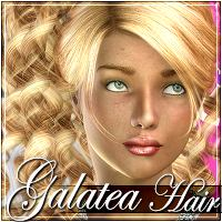 Galatea Hair 3D Figure Essentials 3Dream