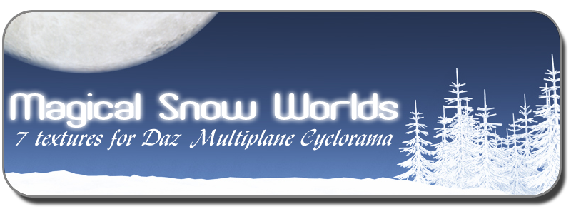 MAGICAL SNOW WORLDS for Multiplane Cyclorama