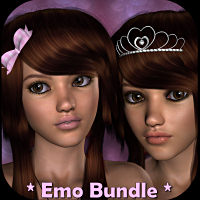 LMD  * Emo Bundle * Characters Hair Accessories LMDesign