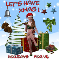Let's have Xmas 3D Figure Assets 3D Models tabala